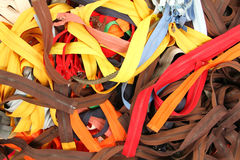 Cremalleras coloridas para la venta Imagen de archivo