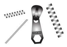 Cremalleras fijadas ilustración del vector