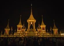 Crematório do adulyadej atrasado do bhumibol do rei imagem de stock