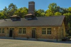 Crematório do campo de concentração de Dachau, Alemanha fotos de stock