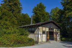 Crematório do campo de concentração de Dachau, Alemanha fotografia de stock royalty free