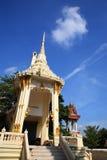 Crematório ou pira funerária no templo tailandês foto de stock