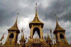 Crematório real do rei Rama Nine de Tailândia Fotos de Stock Royalty Free