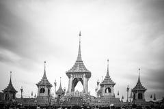 Crematório real para a cremação real de seu rei Bhumibol Adulyadej da majestade fotos de stock royalty free