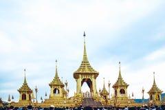 Crematório real para a cremação real de seu rei Bhumibol Adulyadej da majestade fotografia de stock