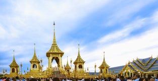 Crematório real para a cremação real de seu rei Bhumibol Adulyadej da majestade imagem de stock royalty free