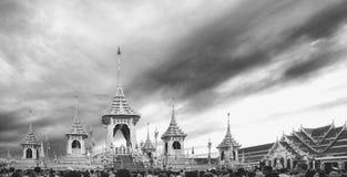 Crematório real para a cremação real de seu rei Bhumibol Adulyadej da majestade imagem de stock