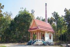 Crematório tailandês tradicional do estilo na floresta, Tailândia imagem de stock royalty free