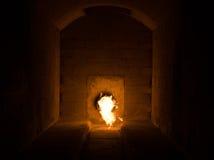 Crematiebrandstapel stock foto