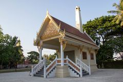 Cremation building. For Buddhism royalty free stock photo