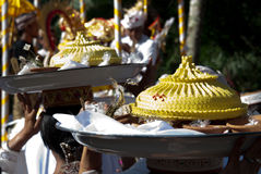 Cremation Ceremony: offerings Stock Image