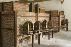 Cremation ovens today. Dachau Concentration Camp. Royalty Free Stock Photos