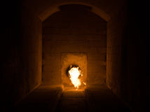 Cremation pyre. Fire  awesome  tunnel  flame Stock Photo