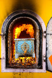 Cremation pyre Thailand. Royalty Free Stock Photography