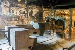 Crematoire Auschwitz stock foto