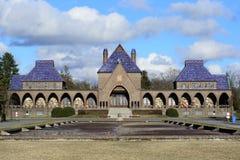 Crematorio in cimitero pubblico di Debrecen Fotografia Stock Libera da Diritti