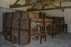 Crematorio de los hornos de campo de concentración de Dachau Imagen de archivo libre de regalías