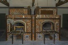 Crematorio de los hornos de campo de concentración de Dachau Fotos de archivo libres de regalías