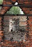 Crematorios de Auschwitz Imágenes de archivo libres de regalías
