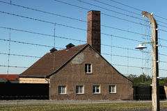 Crematorium in the Buchenwald concentration camp. Stock Photography