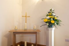 Crematorium chapel royalty free stock images