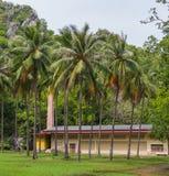 Crematorium in complex of Buddhist Temple : Wat Khao Daeng , Khao Sam Roi Yot National Park , Prachuap Khiri Khan Province , Thail Stock Image