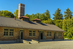 Crematorium from Dachau concentration camp, Germany royalty free stock photos