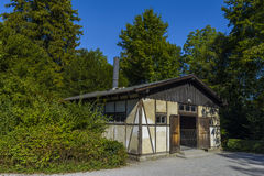 Crematorium from Dachau concentration camp, Germany royalty free stock photography