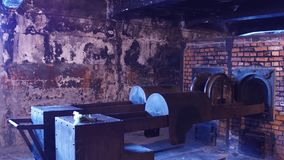 Crematorium oven in a concentration camp. 4K clip. Crematorium oven in a concentration camp. 4K video stock footage