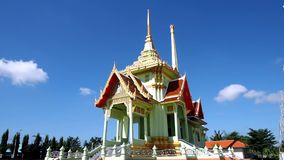 Crematorium at Thai Buddhist temple stock footage