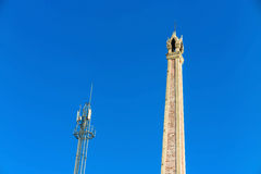Crematory and cellular tower with blue sky Stock Image