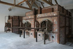 Crematory in Dachau concentration camp, Germany. Royalty Free Stock Image