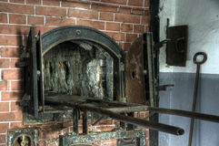 Crematory oven near the gas chamber at Mauthausen royalty free stock photo