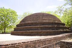 Crematory Stupa at Alahana Parivena, Sri Lanka Stock Images