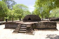 Crematory Stupa at Alahana Parivena, Sri Lanka. Image of a crematory stupa at UNESCO's 12th century World Heritage Site of Alahana Parivena, located at Royalty Free Stock Photo