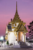 Crematory in temple thailand at dusk Royalty Free Stock Photography