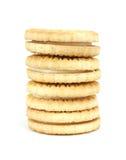 creme μπισκότων βανίλια στοιβών Στοκ Εικόνες