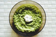 Creme супа брокколи Стоковая Фотография