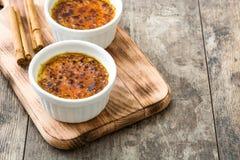 Creme brulee в ramekin стоковое изображение