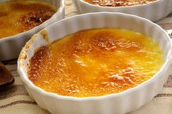 Creme  Brulee. Close-uü from french Creme Brulee Royalty Free Stock Images