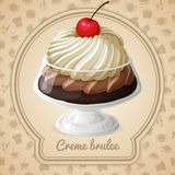 Creme brulee badge Stock Images