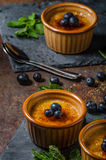 Creme brulee with berries Stock Photography