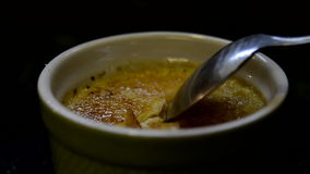 Creme Brulee Break Side stock video