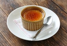 Creme brulee , burnt cream Royalty Free Stock Image