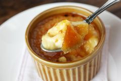 Creme brulee , burnt cream Stock Photos