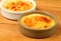 Creme brulee caramelized Stock Image