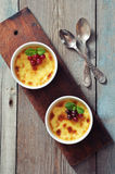 The creme brulee Royalty Free Stock Photo