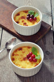 The creme brulee Stock Photography