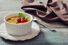 The creme brulee Stock Image