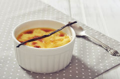 Creme brulee Stock Photo